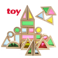 1 1 Super Creative Rainbow Educational Toy Tower Pile of Blocks for Children Diy Wooden Assemblage Building Block selling