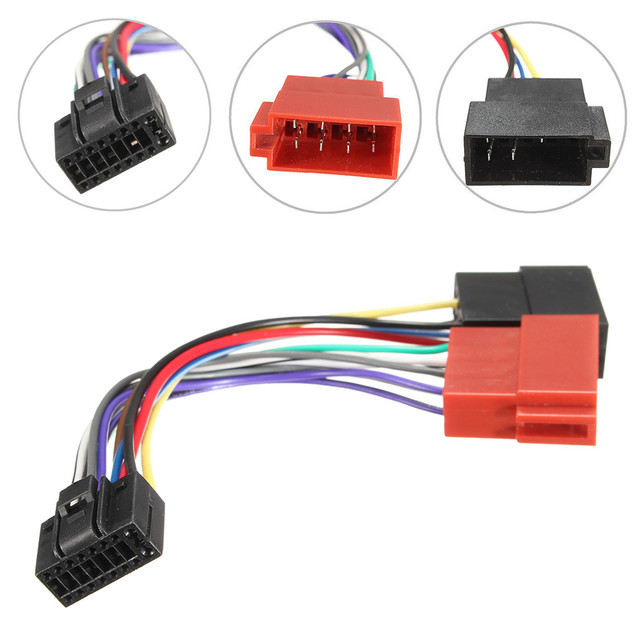 Outstanding Car Stereo Radio Iso Wiring Harness Connector Cable Wire Loom 16 Pin Wiring Cloud Hisonuggs Outletorg