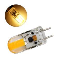 Лидер продаж Светодиодный лампа светодиодный 12v затемнения GY6.35 светодиодный светильник AC/DC 12V силиконовые светодиодный COB светильник лампа 3W Замена галогеновая светильник Инж