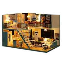 DIY Doll House Miniature Dollhouse With Furniture Kit Wooden House Miniature Toys For Children New Year Christmas Gift