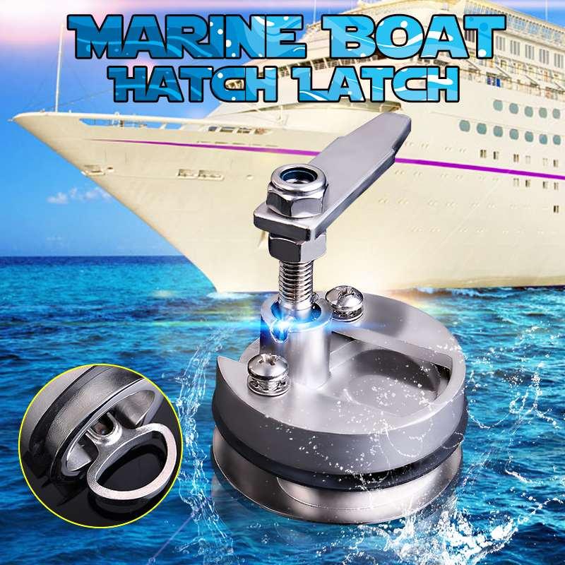 61mm Silver Marine Boat Floor Buckle Hatch Latch Flush Turning Lift Handle 316 Stainless Steel NON Locking Marine Hardware