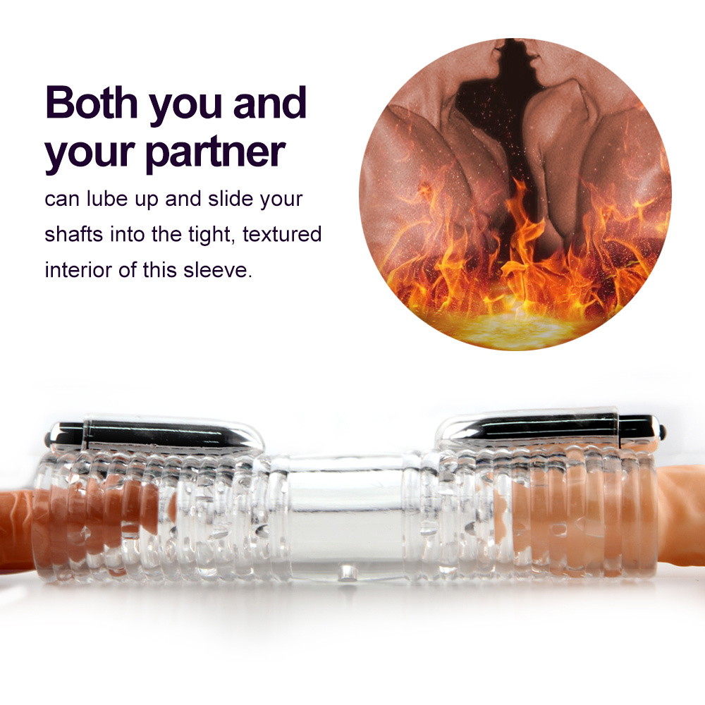 YEAIN Adult Sex Toy For Men Penis Massager With 2 Caps Male Masturbator Gay Couple Vibrator For Man Sex Product Double StrokerYEAIN Adult Sex Toy For Men Penis Massager With 2 Caps Male Masturbator Gay Couple Vibrator For Man Sex Product Double Stroker