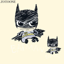 ZOTOONE Batman Iron On Transfer Patches Stickers Applique Embroidery Patch Badge Hot Heat Vinyl Thermal Transfers T Shirt D