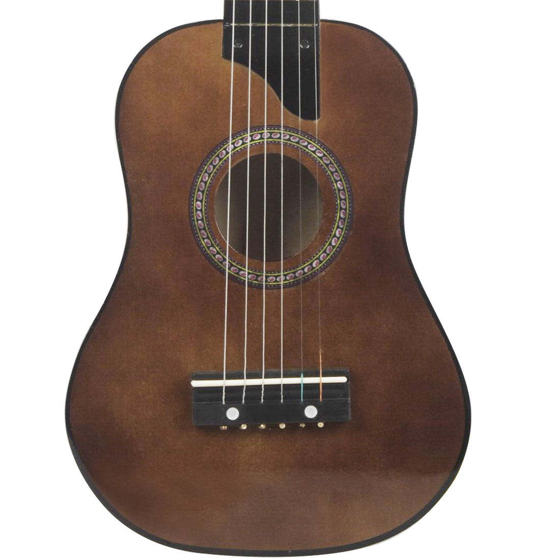irin mini 25 inch basswood acoustic 12 frets 6 strings guitar with pick and strings for children. Black Bedroom Furniture Sets. Home Design Ideas