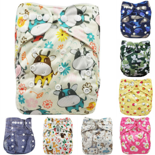 2019 Baby Newborn Diaper Cover Adjustable Reusable Nappies Cloth Wrap Diapers Pocket Nappy Cover Wrap New
