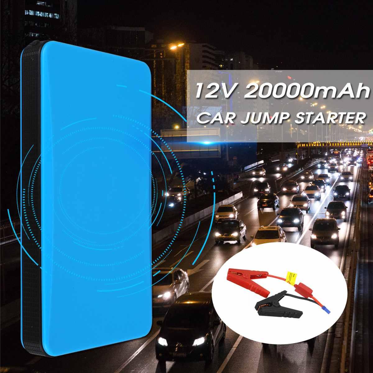 20000 mAh 12 V 200A 4USB Démarreur Voiture De Saut Booster Portable amplificateur de batterie De Voiture Chargeur chargeur portatif pour smartphone Starter Dispositif