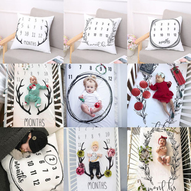 1 PC Fashion Baby Girl Boy Blanket Or Pillow Case Photo Backdrop Photography Prop Shoots Home Textile