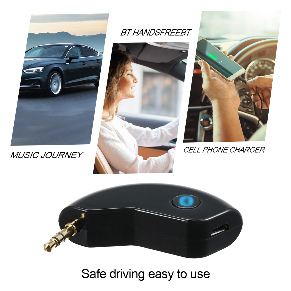 3.5mm Wireless Bluetooth 5.0+EDR Audio Receiver AUX Adapter CVC A2DP for Car