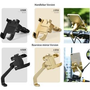 Image 5 - Universal Aluminum Alloy Motorcycle Phone Holder Support Telephone Moto Holder For GPS Bike Handlebar Holder For iPhone Android