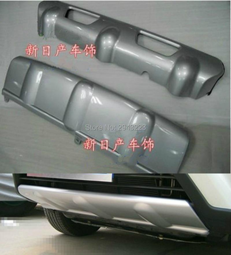 SHCHCG Estilo Do Carro da Frente Traseiro Bumper Diffuser Skid Placa Bumper Guard Protector Capa Para Nissan Rogue X-Trail X trilha 2008-2013
