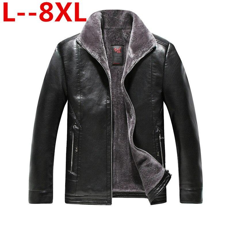 Плюс 8XL 6XL 5X2018 Новый Для мужчин из натуральной кожи куртка высокое качество натуральной овчины летную куртку Для мужчин короткие зимние кожа