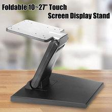 1 pçs plástico tilt montado fold monitor titular girado para 10 27 Polegada display lcd suporte de tela pc monitor suporte de tv