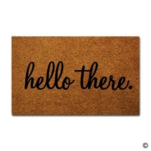 Door Mat Entrance Floor Hello There Designed Funny Indoor Outdoor Doormat