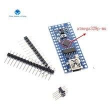 1 pces mini usb com o bootloader nano 3.0 controlador compatível para arduino ch340 usb driver 16mhz nano v3.0 atmega328 bom
