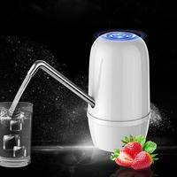 USB Rechargeable Water Pump Dispenser Automatic Electric Double Water Pump Dispenser Gallon Bottle Pump for Home Travel