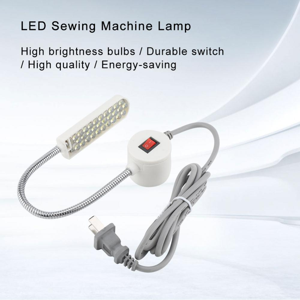 30 LEDs E27 Sewing Machine Light Industrial Work Light Lamp Working Gooseneck Lamp With Magnetic Base Lampen Industrieel