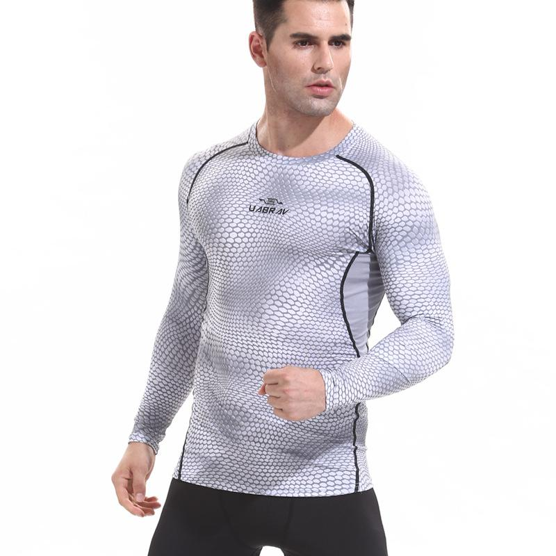 Men Quick Drying Long Sleeve T-Shirt Compression Under Base Layer Top Tight