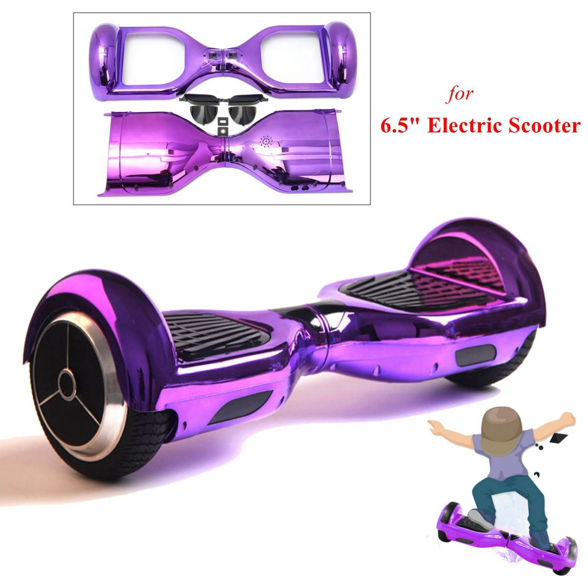 Hoverboard Wrap Cover Replacement Shell For 6.5inch Smart Self Balancing Electric Scooter  2 Wheel Scooter Protector C