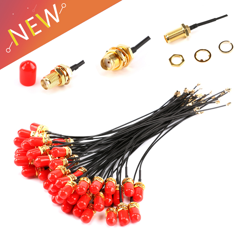5PCS 15CM SMA Straight JACK TO IPEX FEMALE connector RF Pigtail cable