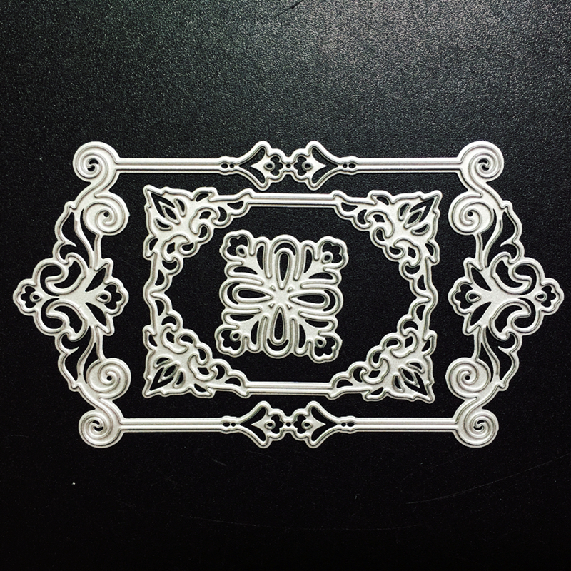 SCD882 Metal Cutting Dies For Scrapbooking Stencils Lace Frame DIY Album Cards Decoration Embossing Folder Die Cuts Cutter Tools in Cutting Dies from Home Garden
