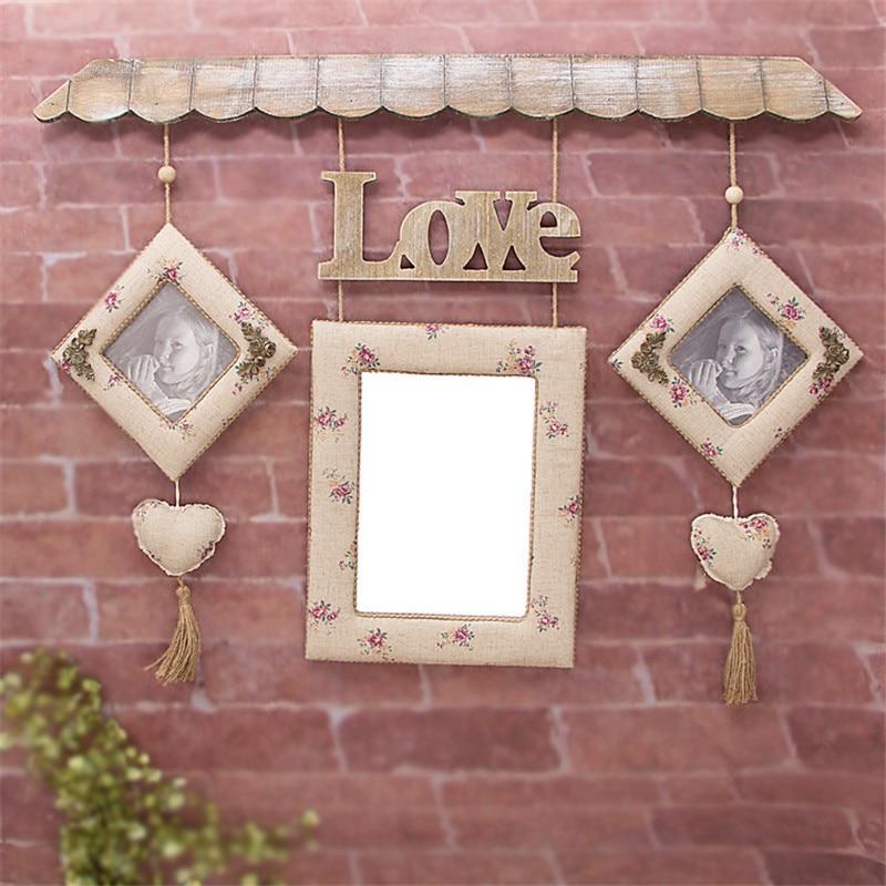 Rétro mur accrocher des images cadres décor domestique photos le décor de mariage et la célébration amour Photo cadres