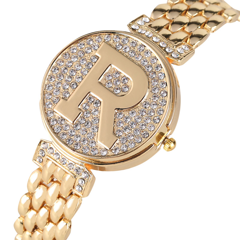 Creative Diamond-encrusted Flip Cover Watches For Women Elegant Quartz Watch Movement Premium Alloy Band With Hook Buck Watches