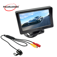 [High Quality] Wireless Video Transmit + Mini Camera 4.3 Inch TFT LCD Monitor with 2 way AV input