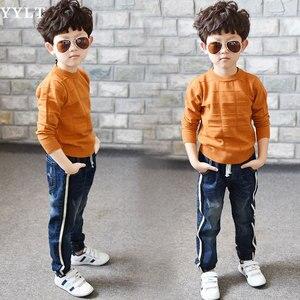 Image 3 - Erkek Kot Sınırlı Gevşek Katı Rahat Için Sonbahar Erkek Kot, çocuk Moda Kot, yaş için 3 4 5 6 7 8 9 10 11 12 13 14 yıl