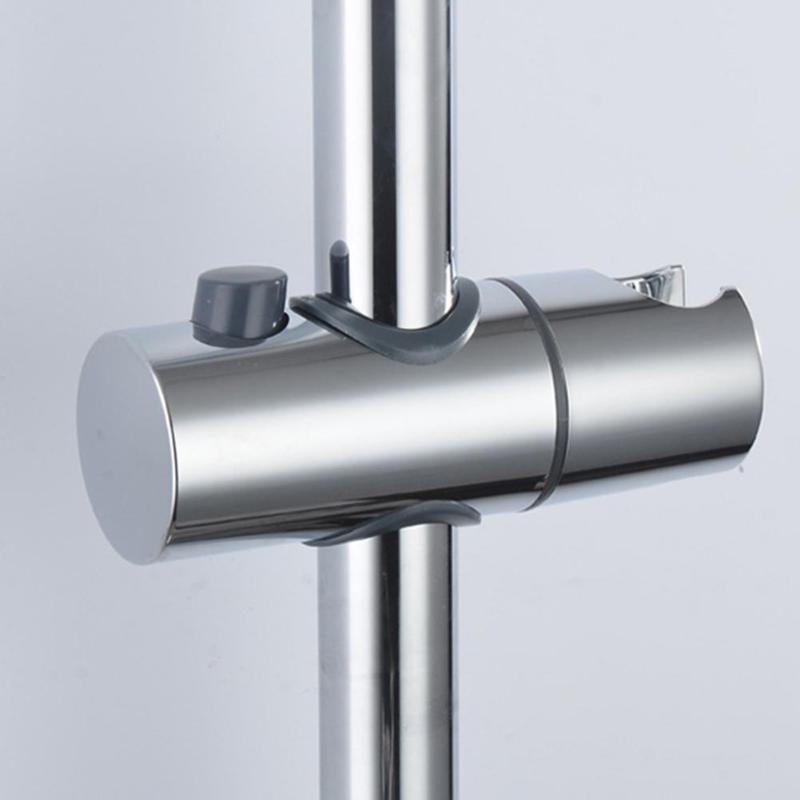 ABS Chrome Shower Head Holder Adjustable 22-25mm Bathroom Shower Bracket Rack Slide Rail Bar Holder Bathroom Accessories