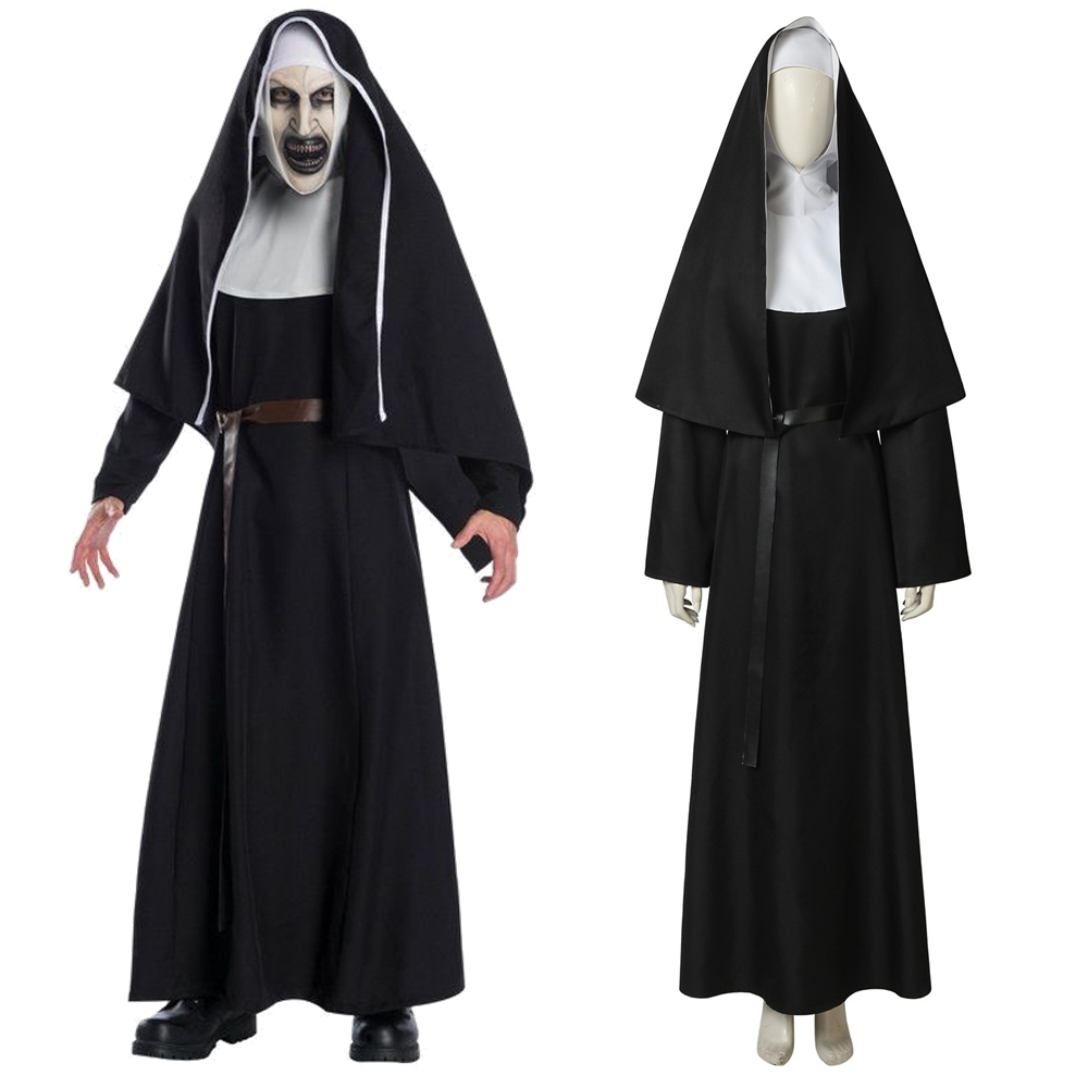 The Nun Valak Demon Nun Scary Cosplay Costume Horror Halloween Costume for Female Adult
