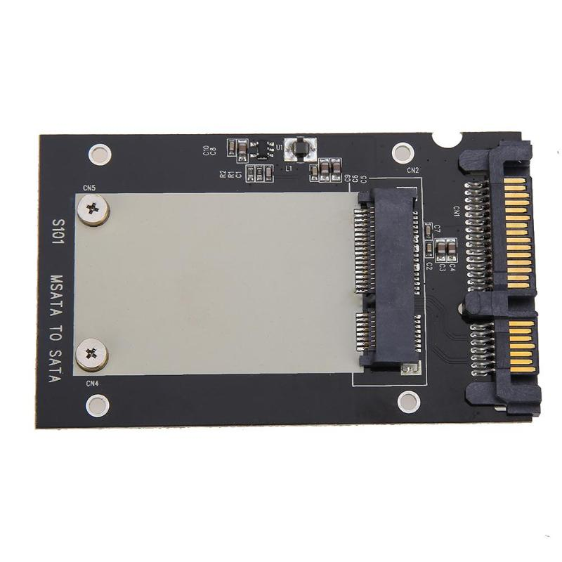 Universal mSATA Mini SSD to 2.5 inch SATA 22-Pin Converter Adapter card for Windows2000/XP/7/8/10/Vista Linux Mac 10 OS image