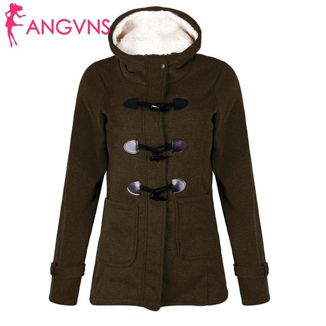 ANGVNS Women Overcoat Autumn Hooded Coat  Fashion Long Sleeve  Zipper Casual Regular Buckle Pockets Outwear  1