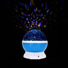 Novelty Luminous Romantic Starry Sky LED Night Light Projector Battery USB Night Light Creative Bed Story Birthday Toy For Kids