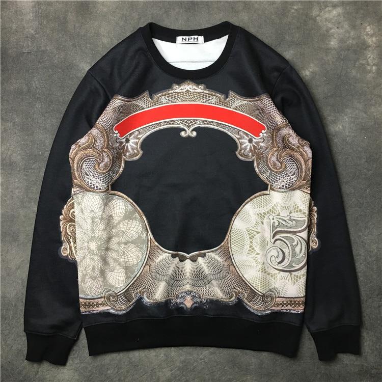 Style Mens Hoodies Clothes Printed Sweatshirts Unfastened Full Informal 100% Cotton Fleece Streetwear Males Hoodie Vetement Homme 2018 Hoodies & Sweatshirts, Low-cost Hoodies & Sweatshirts, Style Mens Hoodies Clothes...