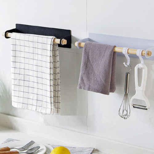 حامل شريط منشفة على خزانة المطبخ خزانة باب الرف رف معلق