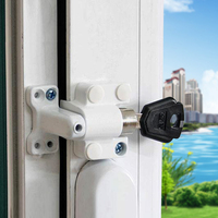 1 conjunto de janela deslizante bloqueio de segurança bloqueio de criança bloqueio de segurança anti roubo fechadura da janela da porta|Travas de janela| |  -