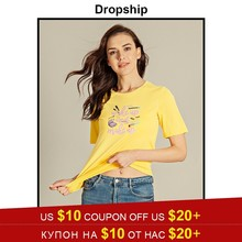 Dropship Camiseta Mujer T camisa Harajuku gráfico camisetas mujeres  Camiseta Tops Mujer básica Harajuku camisa Polera mejores am. 412d09f5cf4