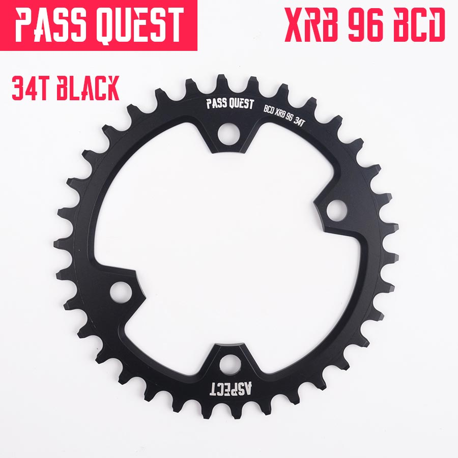 Round 96BCD <font><b>Chainring</b></font> MTB Mountain BCD 96 bike bicycle 32T 34T 36T 38T crankset Tooth plate Parts for <font><b>M7000</b></font> M8000 M9000 CNC 7075 image