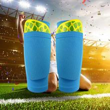 Hot Sale 1 Pair Soccer Protective Socks Shin Pads Supporting Guard Stretchable Wear Resistance with Pocket 2019 New