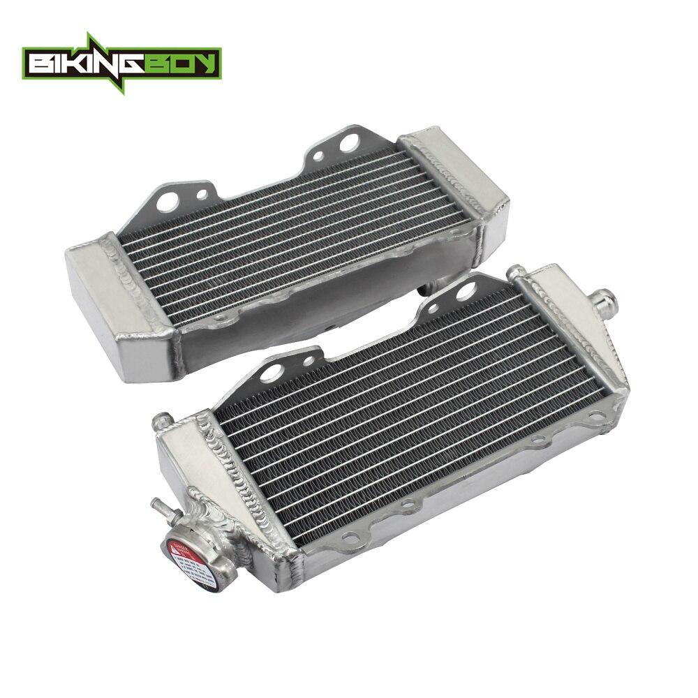 BIKINGBOY Aluminium MX Offroad Engine Radiators Water Cooler fit for Kawasaki KX 125 KX125 03 08