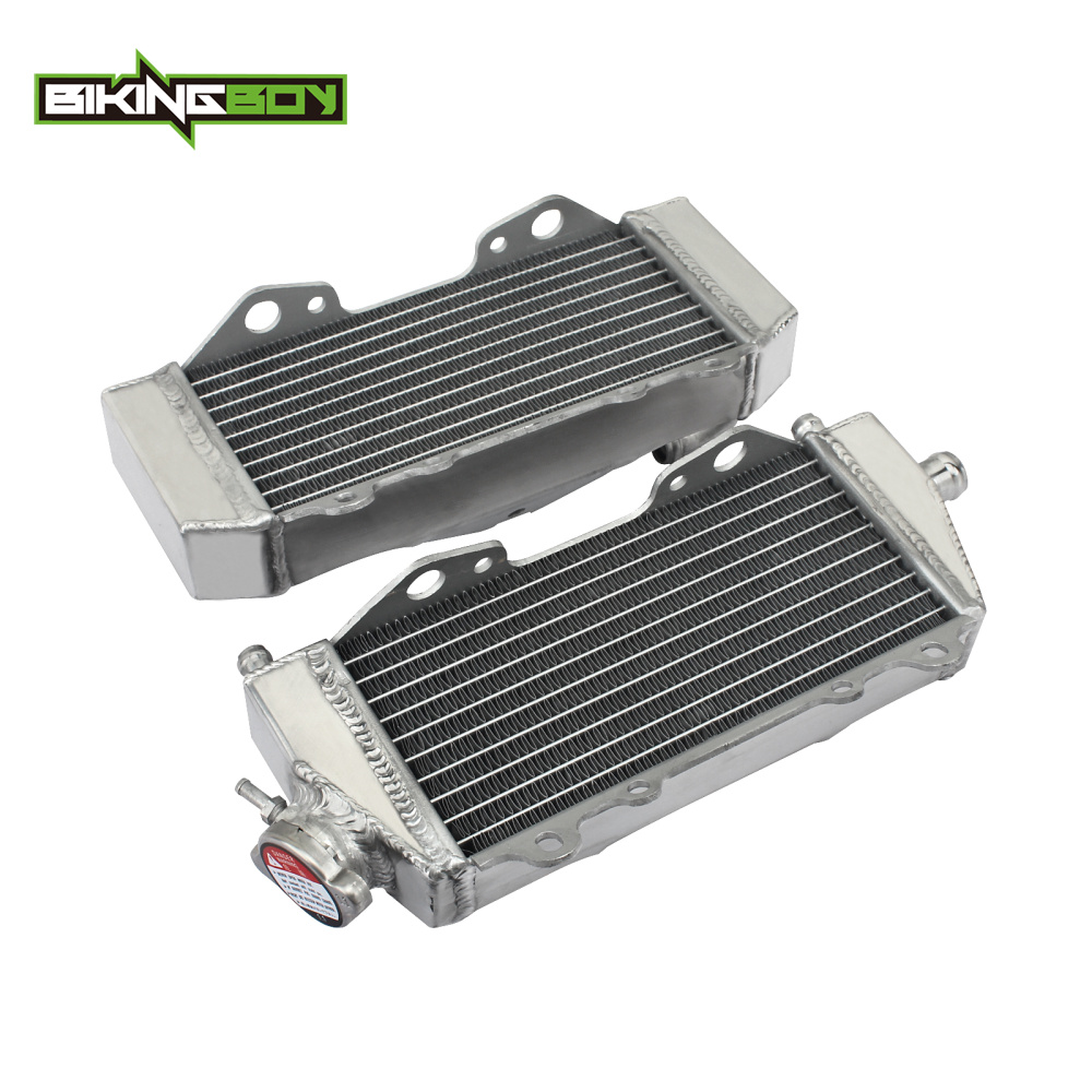 BIKINGBOY Aluminium MX Offroad Engine Radiators Water Cooler fit for Kawasaki KX 125 <font><b>KX125</b></font> 03-08 07 06 05 04 KX250 KX 250 03-04 image
