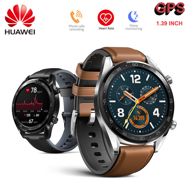 HUAWEI reloj inteligente GT 1,39 pulgadas de pantalla Cortex-A, Cortex-M4 Chips de pago móvil 10,6mm 5ATM impermeable GPS GLONASS DIPPER posicionamiento