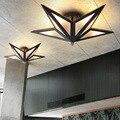 Простой потолочный светильник в скандинавском стиле с пентаграммой для гостиной  коридора  спальни  потолочный светильник  креативное иссл...