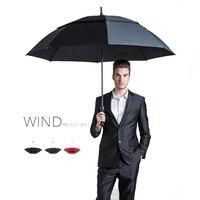 Double Golf Umbrella Men's Strong Windproof Sunscreen Semi automatic Long Umbrella Large Men And Women Business Umbrella