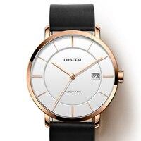 Luxus Marke LOBINNI Uhr Männer Japan MIYOTA 9015 Automatische Mechanische Bewegung herren Uhren Saphir Wasserdichte Uhr L5016-3