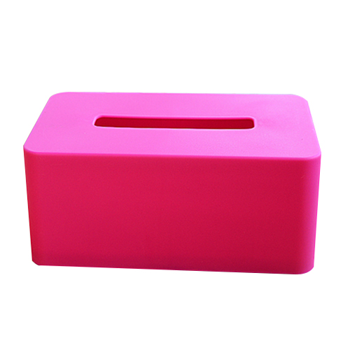 rectangular Plastic facial tissue napkin box toilet paper dispenser case holder home office decoration