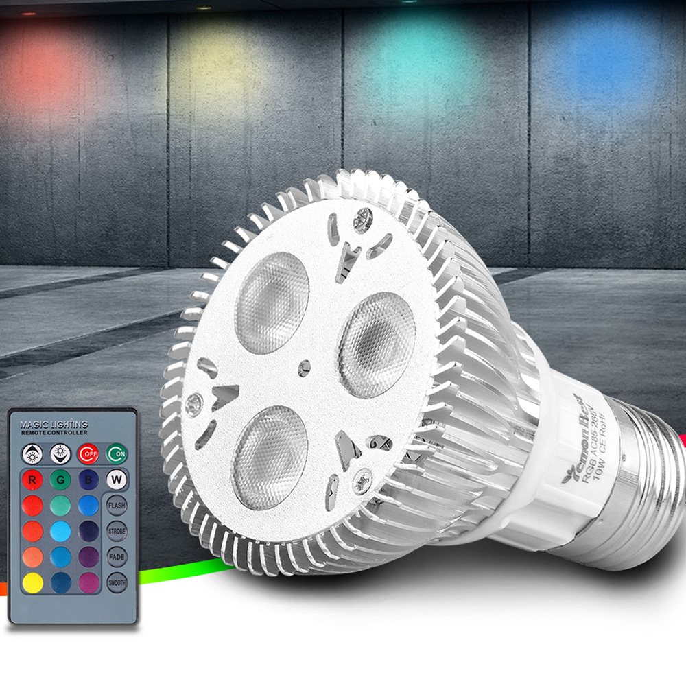 10w Par20 E27 Rgb Led Bulb Stage Lamp Light 16 Colors Remote Control Flash Strobe Power Led Party Decoration Complete Range Of Articles
