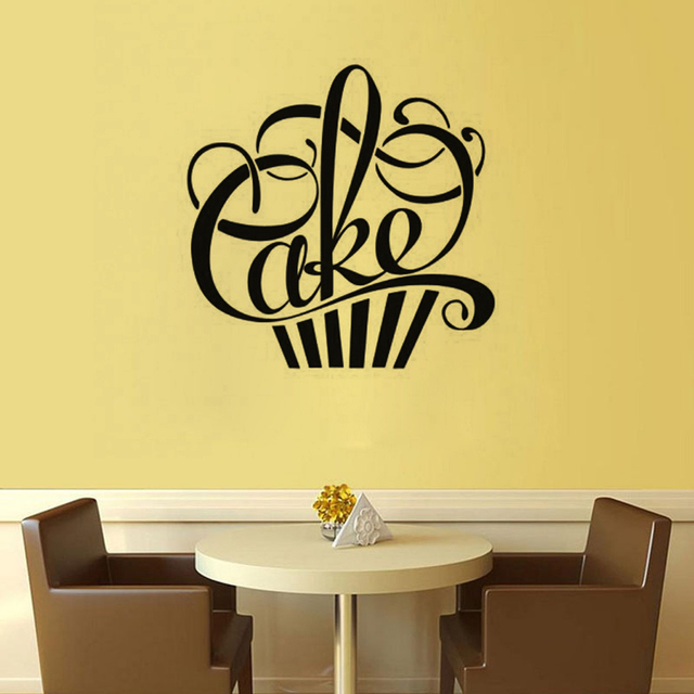 dessert gourmet ice cream cake vinyl wall stickers restaurant
