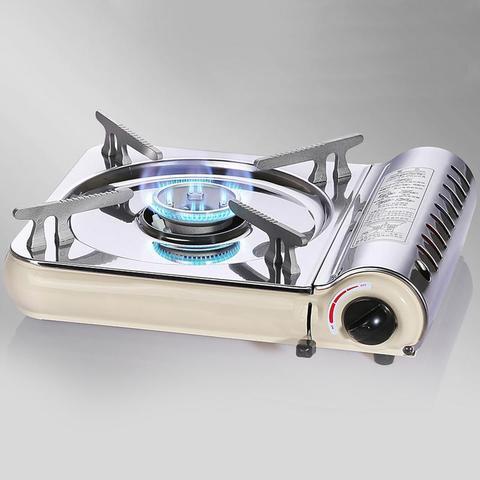 ultra fino portatil fogao a gas em casa de aco inoxidavel ao ar livre piquenique