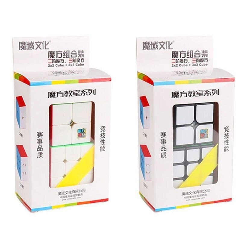 Moyu 2 Piece Set 2x2x2 Neo Fidget Cube 3x3x3 2x2 + 3x3 Magic Speed Cubes Educational Toys For Children Kids